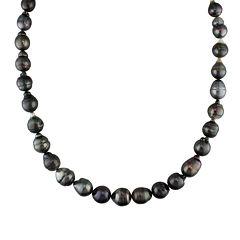 8-10mm Genuine Black Tahitian Pearl Necklace