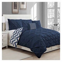 Avondale Manor Ella Pinch Pleat 5Pc Duvet Set