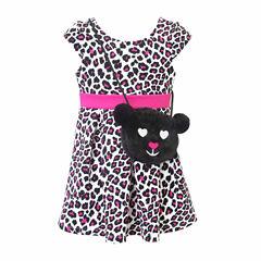 Lilt Short Sleeve Skater Dress - Toddler Girls