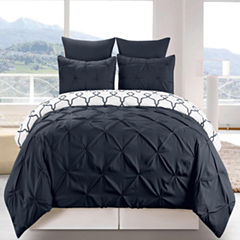 DUCK RIVER 8-pc. Esy Reversible Pintuck ComforterSet