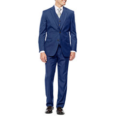 Stafford Travel Stretch Bright Blue Suit Separates- Classic Fit