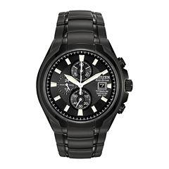 Citizen® Eco-Drive® Mens Black Titanium Chronograph Watch CA0265-59E