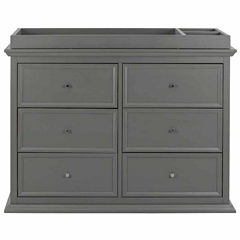 Million Dollar Baby 6-Drawer Nursery Dresser - Painted