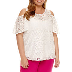 Worthington Cold Shoulder Shell - Plus