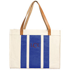 Cathy's Concepts Personalized Stitched Striped Tote