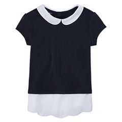 Izod Exclusive Short Sleeve Layered Top - Preschool Girls