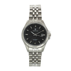 Croton Womens Diamond Accent Stainless Steel Bracelet Watch