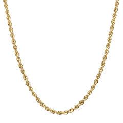 14K Gold Glitter Rope 18-30