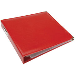 3-Ring Leather Album - Real Red