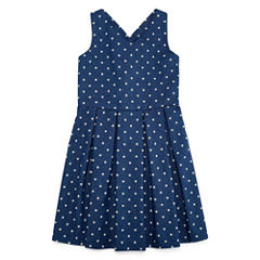 Marmellata A-Line Bow Back Star Print Dress - Girls' 7-16
