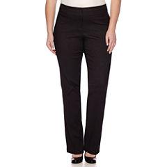 Heart & Soul® Double Waist Pinstripe Pants - Juniors Plus Short