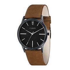 Fjord Mens Brown Strap Watch-Fj-3028-03