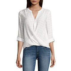a.n.a Wrap Front Blouse