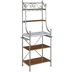 Landry 5-Shelf Marble-Top Baker's Rack