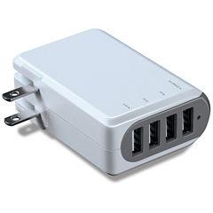 iSound-6767 4.8 A 4-Port USB AC Adapter 100/240V