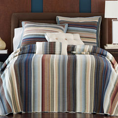 Retro Chic Cotton Striped Bedspread