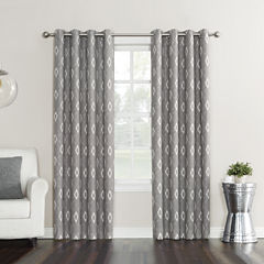 Sun Zero Elda Room-Darkening Grommet-Top Curtain Panel