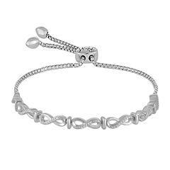 Rhythm and Muse 1/10 CT. T.W. Diamond Sterling Silver Infinity Bracelet