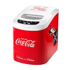 Nostalgia ICE100COKE Coca-Cola 26-Pound AutomaticIce Cube Maker