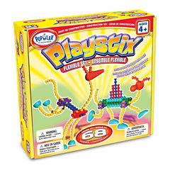 Popular Playthings Playstix Flexible Set: 68 Pcs