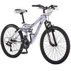 Mongoose Girls Full Suspension Mountain Bike
