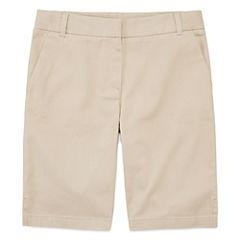 IZOD® Stretch Twill Regular Fit Bermuda Shorts