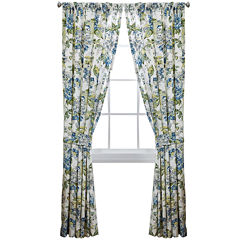 Waverly® Floral Engagement 2-Pack Rod-Pocket Lined Curtain Panels