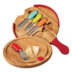 Fiesta® 4-pc. Multicolor Cheese Tool & Slicer Board Set