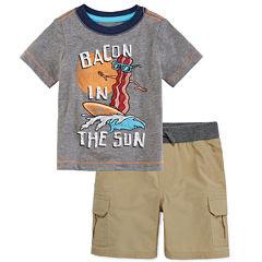 Arizona Short-Sleeve Dreamer Tee or Cargo Shorts - Baby Boys 3m-24m