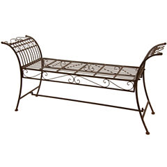 Oriental Furniture Rustic Decorative Garden Bench