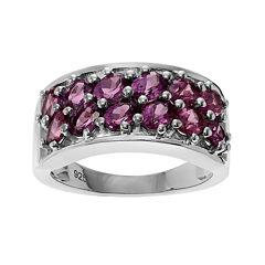 Genuine Rhodolite Sterling Silver Ring
