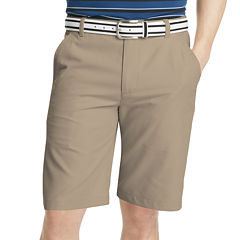IZOD Golf Solid Flat-Front Shorts