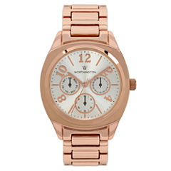 Worthington Womens Rose Goldtone Bracelet Watch-Wt00031-03