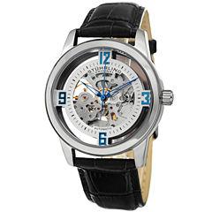 Stuhrling Mens Black Strap Watch-Sp15181