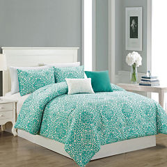 Riverbrook Home Elyse 5-pc. Damask + Scroll Midweight Comforter Set