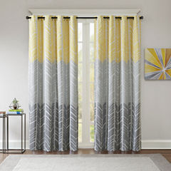 Intelligent Design Kennedy Blackout Grommet-Top Curtain Panel