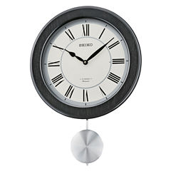 Seiko® Musical Wall Clock With Pendulum And 12 HiFi Melodies And Chime Qxm345klh