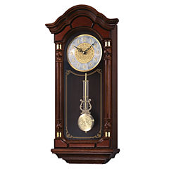 Seiko® Solid Oak Chime Wall Clock with Pendulum