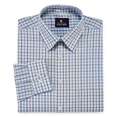 Stafford® Travel Performance Super Blended Broadcloth Long-Sleeve Button-Front Shirt