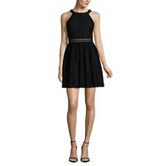 Byer California Sleeveless Skater Dress-Juniors