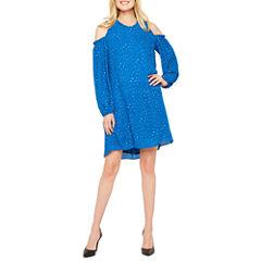 Worthington 3/4 Sleeve Dots Shift Dress