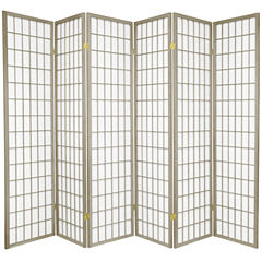 Oriental Furniture 6 Ft. Tall Window Pane SpecialEdition Room Divider