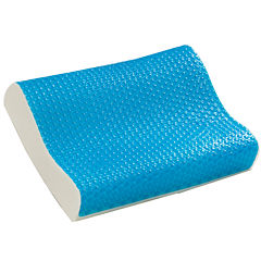Comfort Revolution Cooling Bubble Gel Memory Foam Contour Pillow