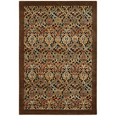 Nourison® Chesterfield High-Low Carved Rectangular Rug