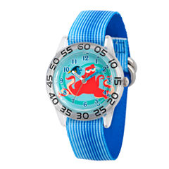Disney Collection Boys Blue & Silver-Tone Numbered Bezel Finding Dory Watch