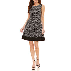 Alyx Sleeveless Diamond Fit & Flare Dress