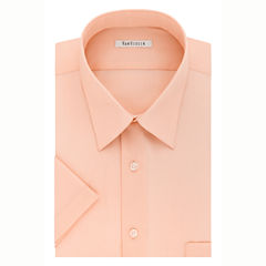 Van Heusen Easy-Care Poplin Short Sleeve Poplin Dress Shirt