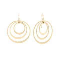 Liz Claiborne® Gold-Tone Triple Circle Drop Earrings