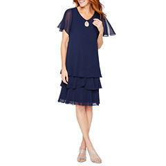 Onyx Nites Short Sleeve Party Dress