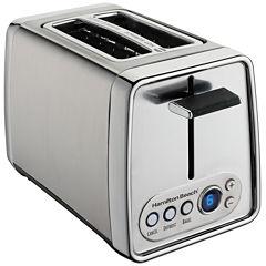 Hamilton Beach® Modern Chrome 2-Slice Toaster with Digital Shade Selector Display